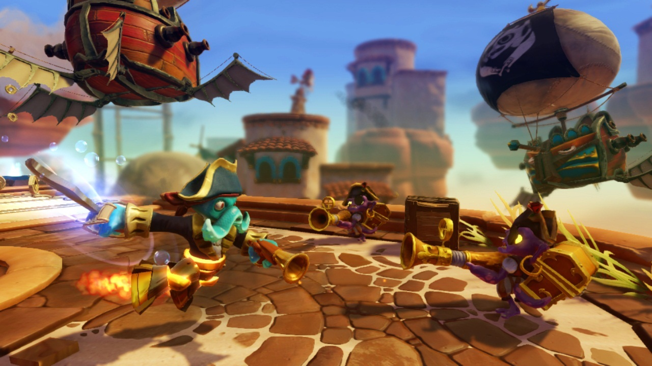 Skylanders SWAP Force Wash Buckler top Blast Zone bottom with enemies Skylanders SWAPS In A New Force of Toys