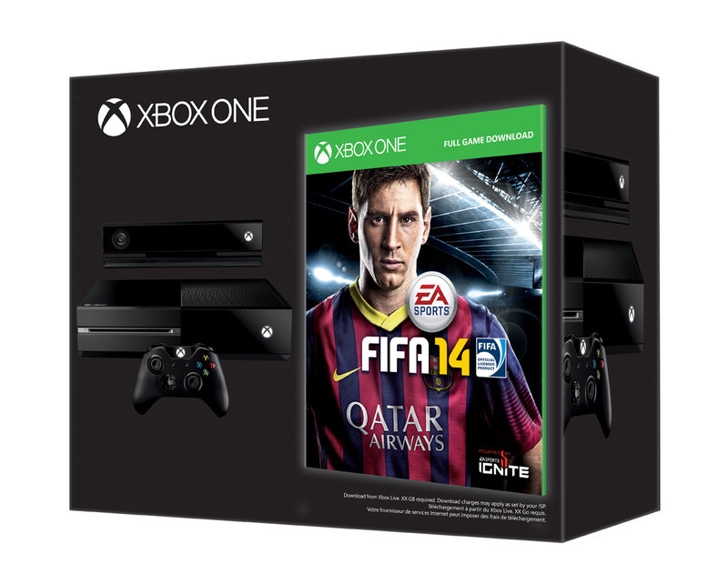 Each Xbox One Day One edition will come with a code for a free download of FIFA 14!